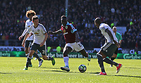 Burnley's Daniel Agyei see this shot saved by Manchester United's goalkeeper David De Gea<br /> <br /> Photographer Stephen White/CameraSport<br /> <br /> The Premier League - Burnley v Manchester United - Sunday 23rd April 2017 - Turf Moor - Burnley<br /> <br /> World Copyright &copy; 2017 CameraSport. All rights reserved. 43 Linden Ave. Countesthorpe. Leicester. England. LE8 5PG - Tel: +44 (0) 116 277 4147 - admin@camerasport.com - www.camerasport.com