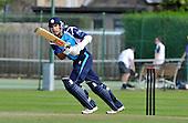 CB40 Cricket - Scottish Saltires V Northampton Steelbacks at Grange CC - Edinburgh - Saltires (and Durham CC) batsman Kyle Coetzer shows his determination while on his way to 122 off 109 balls - Picture by Donald MacLeod - 17.07.11 - 07702 319 738 - www.donald-macleod.com