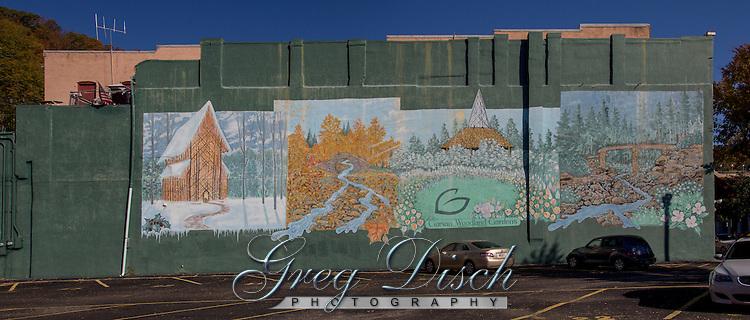Mural on building in downtown Hot Springs Arkansas, in Hot Springs National Park