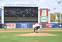Masahiro Tanaka (Yankees),<br /> FEBRUARY 28, 2017 - MLB :<br /> New York Yankees starting pitcher Masahiro Tanaka touches the pitcher's plate before delivering the first pitch in the first inning during a spring training baseball game against the Detroit Tigers at George M. Steinbrenner Field in Tampa, Florida, United States. (Photo by AFLO)