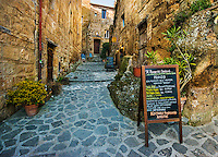 Walkway up stairs to Restaurant in Civita