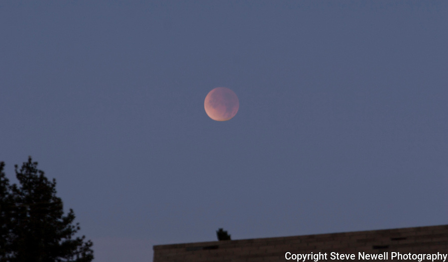 """Lunar Eclipse 2011"" Lake Tahoe, NV near Nevada Beach where I live.  I captured this Total Eclipse on December 10th, 2011."