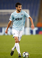 Calcio, Serie A: Roma, stadio Olimpico, 22 ottobre 2017.<br /> Lazio's Marco Parolo in action during the Italian Serie A football match between Lazio and Cagliari at Rome's Olympic stadium, October 22, 2017.<br /> UPDATE IMAGES PRESS/Isabella Bonotto