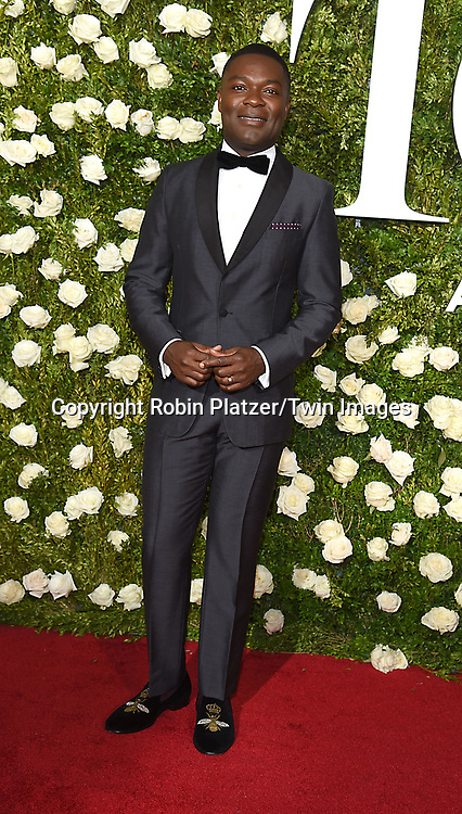 David Oyelowo attends the 71st Annual  Tony Awards on June 11, 2017 at Radio City Music Hall in New York, New York, USA.<br /> <br /> photo by Robin Platzer/Twin Images<br />  <br /> phone number 212-935-0770