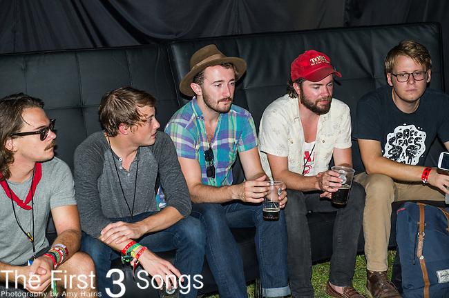 Will Horton, Matthew Hyrka, Philip Anderson, John Phillips, and Adam Bonomo of The Black Cadillacs performs at the 2014 Bunbury Music Festival in Cincinnati, Ohio