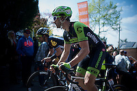 Nathan Haas (AUS/Cannondale-Garmin) up the infamous Mur de Huy (1300m/9.8%)<br /> <br /> 79th Fl&egrave;che Wallonne 2015