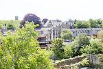 View over KIng's School, Bruton, Somerset, England, UK