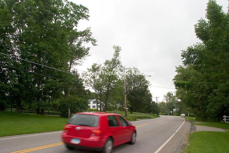 GOSHEN, CT -13 JULY 06- 071306JT11-<br /> Route 63 in Goshen.<br /> Josalee Thrift Republican-American