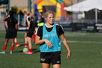 Rochester, NY - Friday June 24, 2016: Western New York Flash defender Abigail Dahlkemper (13) prior to a regular season National Women's Soccer League (NWSL) match between the Western New York Flash and the Boston Breakers at Rochester Rhinos Stadium.