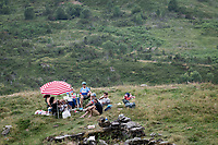 waiting for the riders up the Tourmalet (HC/2115m/19km @7.4%)<br /> <br /> Stage 14: Tarbes to Tourmalet(117km)<br /> 106th Tour de France 2019 (2.UWT)<br /> <br /> ©kramon