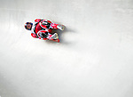 6 February 2009: Meaghan Simister from Canada slides through a curve in the Women's Competition finishing in 18th place for the event with a combined time of 1:29.813 at the 41st FIL Luge World Championships, in Lake Placid, New York, USA. .  .Mandatory Photo Credit: Ed Wolfstein Photo