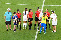 Bridgeview, IL- Tuesday August 2, 2018: 2018 Tournament of Nations match between the women's national teams of the United States (USA) and Brazil (BRA) at Toyota Park.