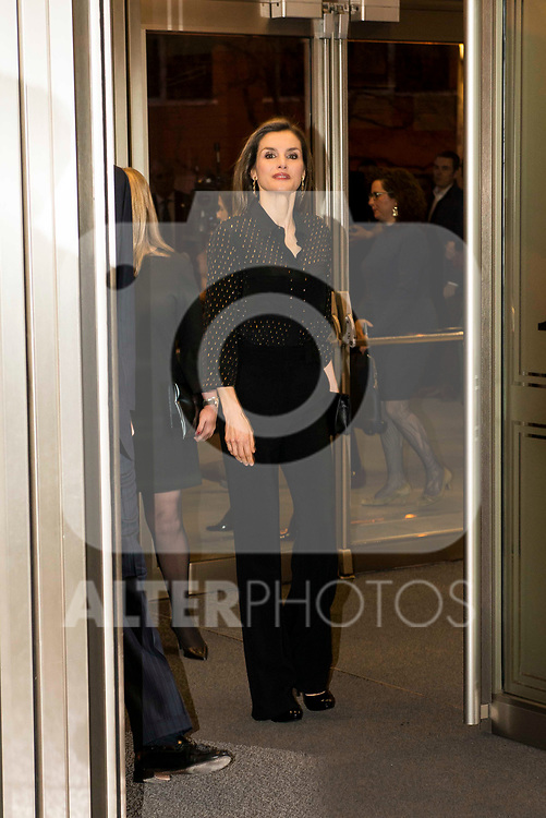 "Queen Letizia during the concert ""In Memoriam"" in honor of the victims of terrorism at  Auditorio Nacional de Musica in Madrid. March 08, 2017. (ALTERPHOTOS/Borja B.Hojas)"