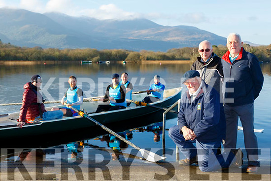 John Kelly Chairman, DJ Riordan, and JohnJoe Healy Commercials rowing Club who are celebrating their 150th anniversary this year with a crew training on the lakes on Sunday morning l-r: Daniel O'Donoghue, Michael Sweeney, David Kavanagh, Eric Wharton and Kevin Tangney