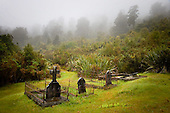 The old Gillespies Beach cemetery from when it was a busy minning community in the 1800s, Westland District, West Coast, South Island, New Zealand.