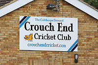Crouch End signage during Crouch End CC (fielding) vs Waltham CC, ECB National Club Championship Cricket at The Calthorpe Ground on 9th June 2019