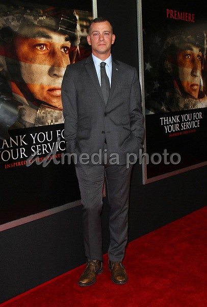 "23 October 2017 - Los Angeles, California - Adam Schumann. ""Thank You For Your Service"" Premiere held at the Regal L.A. Live Theatre in Los Angeles. Photo Credit: AdMedia"