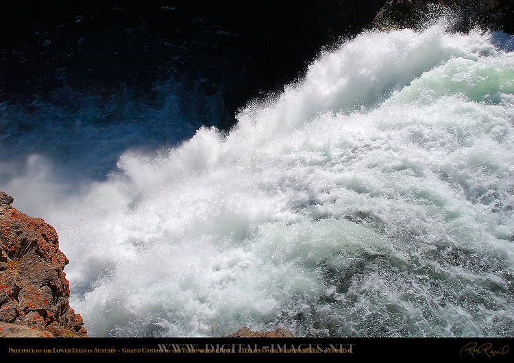 Precipice of the Lower Falls in Autumn, Grand Canyon of the Yellowstone River, Yellowstone National Park, Wyoming