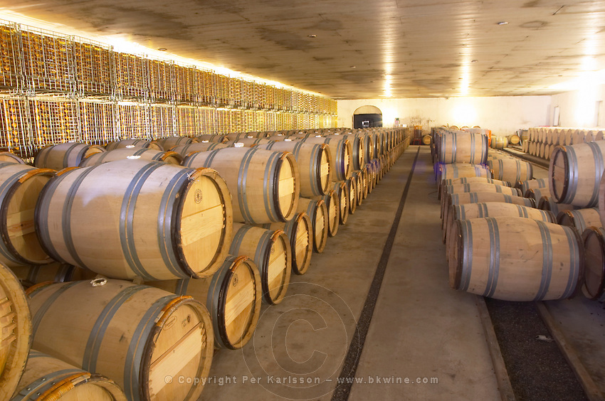 barrel aging cellar chateau guiraud sauternes bordeaux france