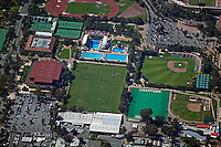 aerial photograph of Stanford University's sports complex, Palo Alto, California