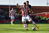 Stoke City's Marko Arnautovic shoots at goal<br /> <br /> Photographer Terry Donnelly/CameraSport<br /> <br /> The Premier League - Stoke City v Liverpool - Saturday 8th April 2017 - bet365 Stadium - Stoke-on-Trent<br /> <br /> World Copyright &copy; 2017 CameraSport. All rights reserved. 43 Linden Ave. Countesthorpe. Leicester. England. LE8 5PG - Tel: +44 (0) 116 277 4147 - admin@camerasport.com - www.camerasport.com