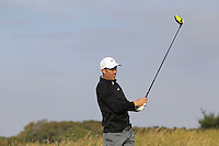 Ross Fisher (ENG) on the 11th tee during Round 3 of the 2015 Alfred Dunhill Links Championship at Kingsbarns in Scotland on 3/10/15.<br /> Picture: Thos Caffrey | Golffile