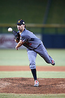 Salt River Rafters pitcher Jared Miller (98), of the Arizona Diamondbacks organization, during a game against the Mesa Solar Sox on October 22, 2016 at Sloan Park in Mesa, Arizona.  Salt River defeated Mesa 7-2.  (Mike Janes/Four Seam Images)