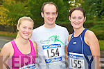 Jackie Kearney, Causeway, Mark Barrett, Rathkeale and Bridget O'Sullivan, Waterville, at the Feet First fun run in Killarney on Sunday.