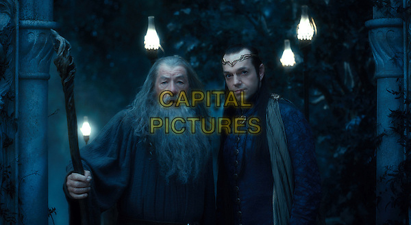 IAN McKELLEN & HUGO WEAVING .in The Hobbit: An Unexpected Journey (2012).*Filmstill - Editorial Use Only*.CAP/FB.Supplied by Capital Pictures.