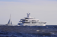 - France, yachts off the coast of French Riviera<br /> <br /> - Francia, yachts al largo della Costa Azzurra