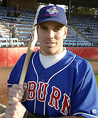 August 16, 2004:  Ryan Klosterman of the Auburn Doubledays, Short-Season Single-A affiliate of the Toronto Blue Jays, during a game at Russell Diethrick Park in Jamestown, NY.  Photo by:  Mike Janes/Four Seam Images