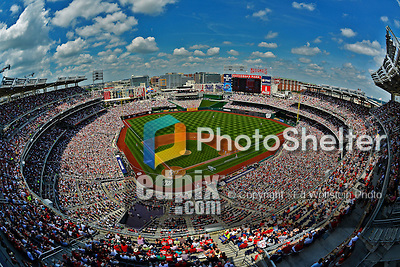 17 June 2012: A sellout crowd of 41,442 watch the Washington Nationals host the New York Yankees at Nationals Park in Washington, DC. The Yankees defeated the Nationals 4-1 to sweep their 3-game series. Mandatory Credit: Ed Wolfstein Photo