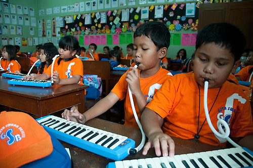 Java, Jakarta.  Barack Obama lived in Jakarta from age 5-10.  This is his childhood elementary school, where he is a big hero. Current students study and perform at the school.