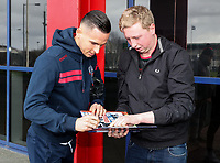 Bolton Wanderers' Pawel Olkowski signs an autograph for a supporter <br /> <br /> Photographer Andrew Kearns/CameraSport<br /> <br /> The EFL Sky Bet Championship - Bolton Wanderers v Preston North End - Saturday 9th February 2019 - University of Bolton Stadium - Bolton<br /> <br /> World Copyright &copy; 2019 CameraSport. All rights reserved. 43 Linden Ave. Countesthorpe. Leicester. England. LE8 5PG - Tel: +44 (0) 116 277 4147 - admin@camerasport.com - www.camerasport.com