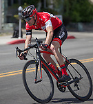 Jeff Thompson from Reno, NV races in the Elite 3/4 division of the Tour De Nez Bike Race in downtown Reno on Saturday, June 11, 2016.