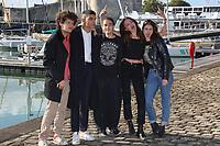 GREGOIRE MONTANA, SAMI OUTALBALI, THEOPHILE BAQUET, ADELE WISMES, ROMANE LUCAS - 19EME FESTIVAL DE LA FICTION TV DE LA ROCHELLE, FRANCE, LE 15/09/2017.
