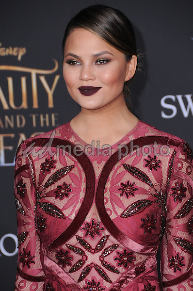 "02 March 2017 - Hollywood, California - Chrissy Teigen. Los Angeles premiere of Disney's ""Beauty and the Beast' held at El Capitan Theatre. Photo Credit: Birdie Thompson/AdMedia"