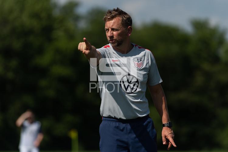 Rome, GA - Friday, June 21, 2019:  Stuart Sharp during a Para 7 USMNT training session.