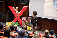 "Waruguru Waithira '19 talks about ""Thahu.""<br /> Occidental College hosts TEDxOccidentalCollege on April 21, 2018 in Choi Auditorium of Johnson Hall. Students, faculty, alums and guest speakers delivered their TEDx Talk on the theme, Shifting Ecosystems of Power.<br /> (Photo by Marc Campos, Occidental College Photographer)"