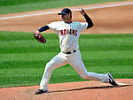 6 September 2009: Cleveland Indians' starting pitcher David Huff on the mound against the Minnesota Twins at Progressive Field in Cleveland, Ohio. Huff gave up only two hits in 7 innings for his 9th win of the season as the Indians defeated the Twins 3-1 to take the rubber match of their three-game weekend series. Mandatory Credit: Ed Wolfstein Photo