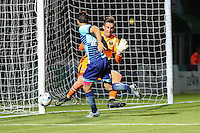 Scott Kashket of Wycombe Wanderers hits the post early on during the The Checkatrade Trophy match between Wycombe Wanderers and West Ham United U21 at Adams Park, High Wycombe, England on 4 October 2016. Photo by David Horn.