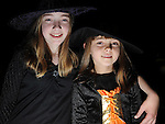 Rachel and Sarah Goodwin pictured at the Halloween party for members of Ardee Brass Band in the Bohemian centre. Photo:Colin Bell/pressphotos.ie
