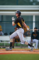 Pittsburgh Pirates Erich Weiss (6) during an instructional league intrasquad black and gold game on September 18, 2015 at Pirate City in Bradenton, Florida.  (Mike Janes/Four Seam Images)