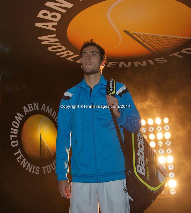 11-02-14, Netherlands,Rotterdam,Ahoy, ABNAMROWTT,Jerzy Janowicz(POL)<br /> Photo:Tennisimages/Henk Koster