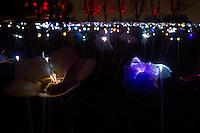 Cidneon - Festival Internazionale delle luci nella foto installazione nel castello di Brescia eventi Brescia 10/02/2017 foto Matteo Biatta<br /> <br /> Cidneo - International festival of the lights in the picture artistic installation in the Castle of Brescia events Brescia 10/02/2017 photo by Matteo Biatta