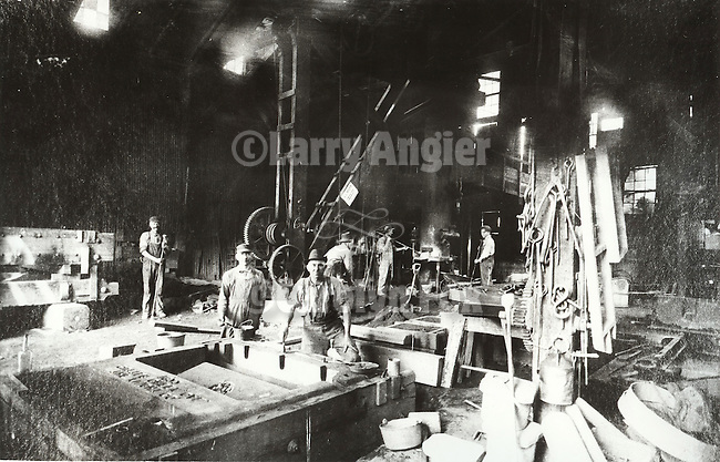 Interior, Knight & Company Foundry, Sutter Creek, Calif. From the Amador County Archives