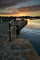Dawn on the quay at St Mary's Harbour, Isles of Scilly