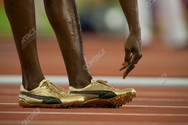 Usain Bolt (Jamaica), before 200m - round 2, National Stadium, Summer Olympics, Beijing, China, August 18, 2008