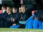 Nederland, Rotterdam, 12 oktober 2012.Kwalificatiewedstrijd WK 2014.Nederland-Andorra .Dirk Kuijt van Oranje op de reservebank.