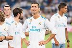 Real Madrid's Cristiano Ronaldo during XXXVIII Santiago Bernabeu Trophy at Santiago Bernabeu Stadium in Madrid, Spain August 23, 2017. (ALTERPHOTOS/Borja B.Hojas)